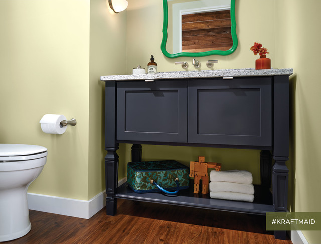 KraftMaid: Bathroom Vanity in Midnight - Transitional - Bathroom - detroit - by KraftMaid