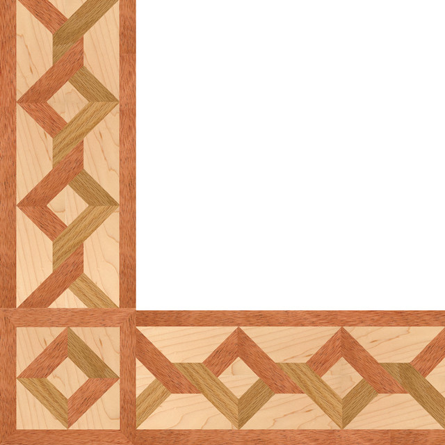 Oshkosh Designs Carlton Inlay Border and Corner contemporary-hardwood-flooring