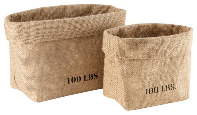 Jute Weave Storage Baskets contemporary-baskets