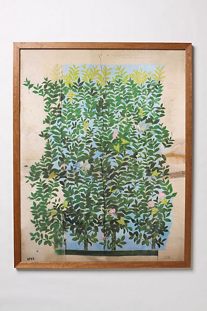 Green Leaves Framed Art modern artwork