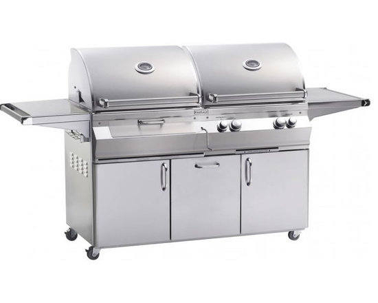 Fire Magic A830s Portable Dual Fuel Grill - Fire Magic Aurora Portable Dual Fuel Grill Model A830s Charcoal And Gas Grill All In One.