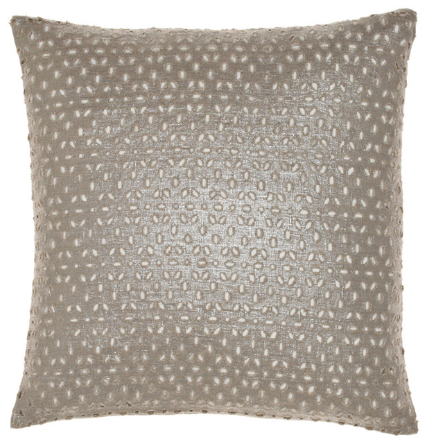 Metallized Linen Pillow contemporary-decorative-pillows