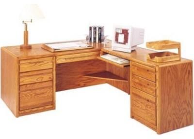 Miranda L Shaped Computer Desk Modern Desks And