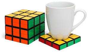 Rubik's Cube Coasters eclectic-barware