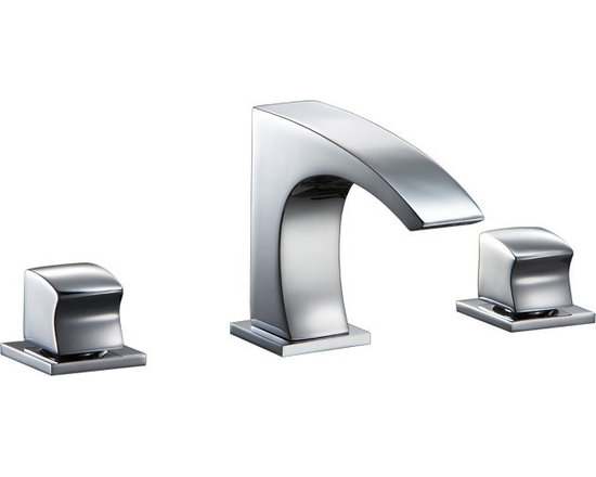 Dawn 3 Hole Widespread Lavatory Faucet with Square Handles AB77 1584 - Features: