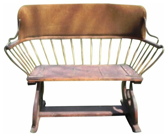 Buckboard Buggy Seat - It's very rare to find a buggy seat with all the spindles intact. This is a great example of a distinctly American made wagon seat. Seat is authentic, frame is newer. Patina on the wood is absolutely stunning.