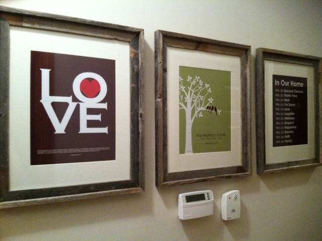 Love Is All You Need - Family Tree Print - In Our Home Family Rules traditional-artwork