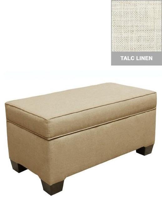 Custom Alder Upholstered Storage Bench - Traditional - Bedroom Benches ...