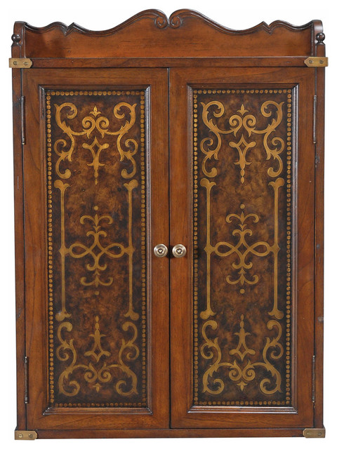 Elegant Scroll Dart Board Cabinet - Traditional - Darts And Dartboards ...