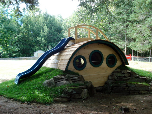 """Woodshire"" Hobbit Hole Playhouse outdoor-products"