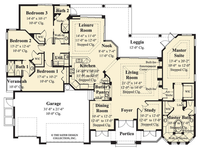 Sater design collection 39 s 6778 deauville home plan for Sater design house plans