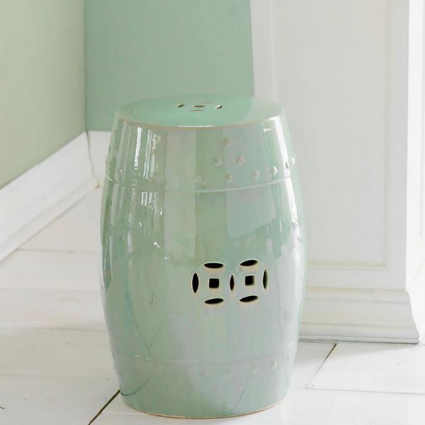 Chinese Garden Stool - Light Green - Modern - Accent And ...