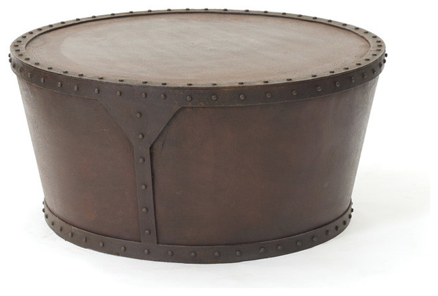 Tambour Drum Table Industrial Coffee Tables