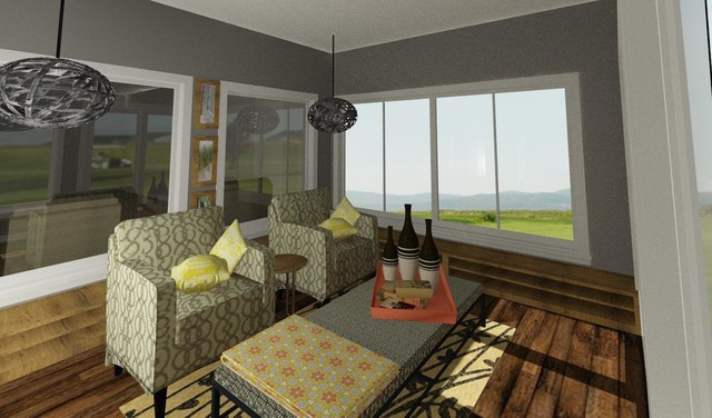 Sunroom off Master traditional-rendering