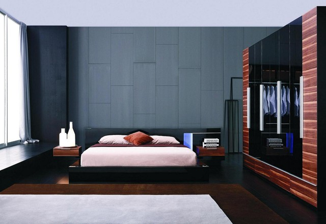 exclusive leather designer bedroom set with extra storage asian style bedroom sets