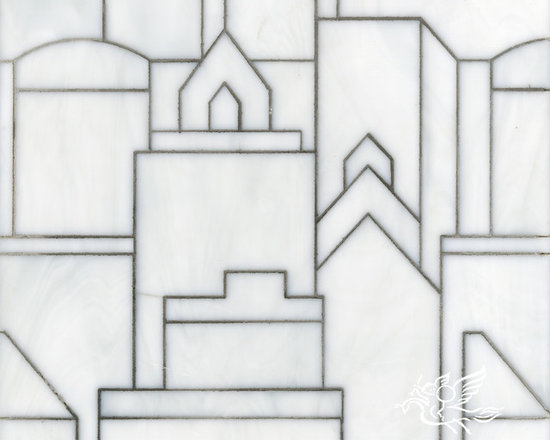 Erin Adams - Cityscape - Cityscape, a glass waterjet mosaic shown in Moonstone, is part of the Erin Adams Collection for New Ravenna Mosaics.