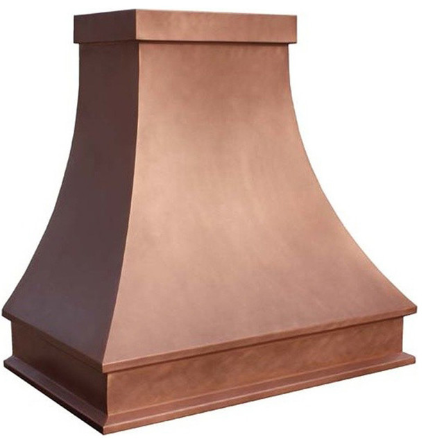 """Copper Kitchen Hood """"Tennessee"""", Natural Fired, 30"""", Wall"""