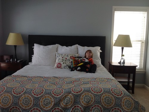 What to do with our walls master bedroom for How to hang a bed from the wall