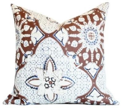 New Batik Pillow, Brown contemporary-decorative-pillows