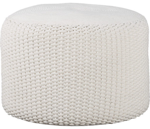 Criss Knit Indoor-Outdoor Pouf contemporary-floor-pillows-and-poufs