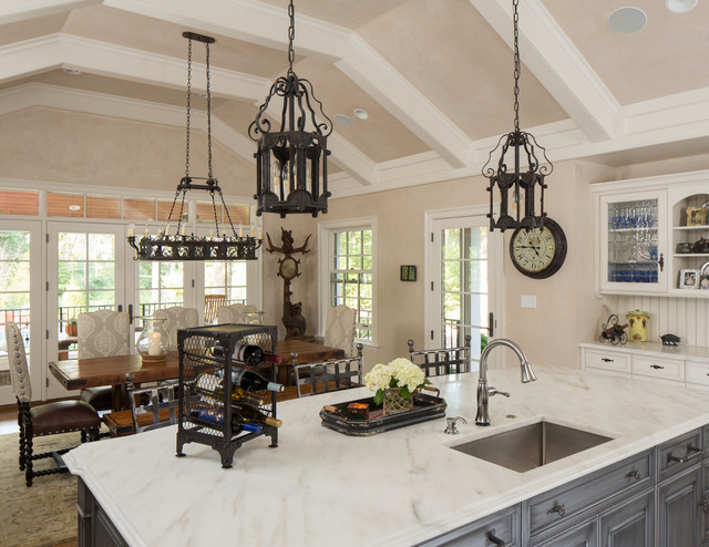 Kitchen Remodel Raised Ceiling And Addition Mediterranean St Louis By Gegg Design Cabinetry