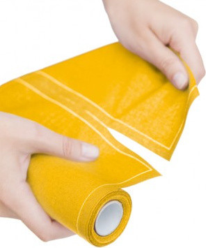 MYdrap Mustard Cotton Cocktail Napkin Rolls modern table linens