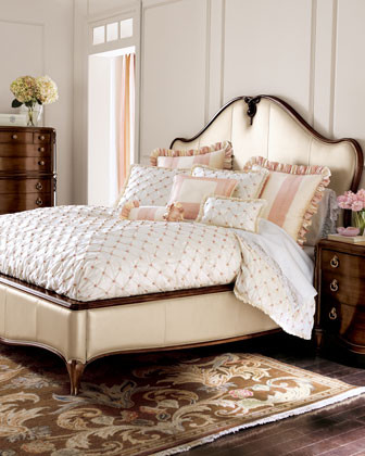 Pearlized Bedroom Furniture traditional beds