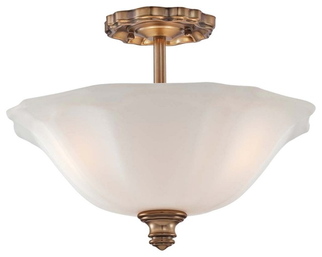 "Traditional Felice Bath 15"" Wide Vintage Cheshire Gold Ceiling Light traditional-ceiling-lighting"