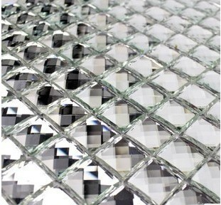 Diamond Mirror Crystal Glass Mosaic Tile Modern Mosaic