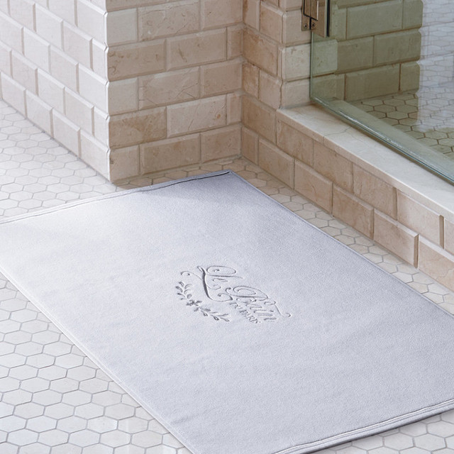 Le Bain Du Paris Bath Mat Traditional Bath Mats By