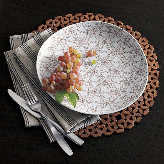 Ethnic Flower Dinner Plates modern-plates