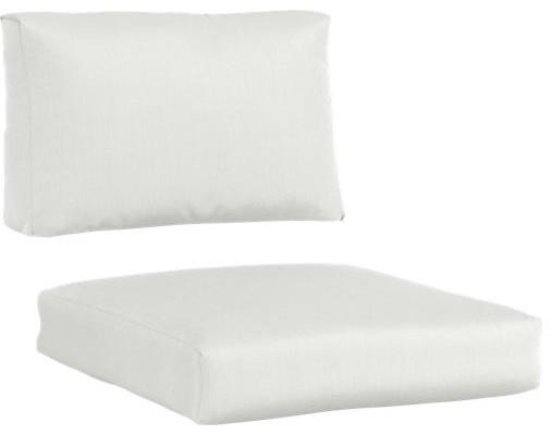 Newport Sunbrella® White Sand Lounge Chair Cushions