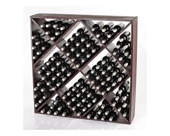 120 Bottle Wine Rack Finish: Mahogany - Wine rack. Hand-cut and hand-sanded.