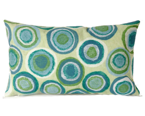 Trans-Ocean Outdoor Pillows - Designer Liora Manne's newest line of toss pillows are made using a unique, patented Lamontage process combining handmade artistry with high tech processing. The 100% polyester microfibers are intricately structured by hand and then mechanically interlocked by needle-punching to create non-woven textiles that resemble felt. The 100% polyester microfiber results in an extra-soft hand with unsurpassed durability.