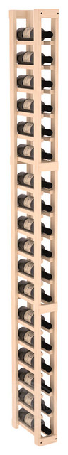 1 Column Split Bottle Cellar Kit in Pine traditional-wine-racks