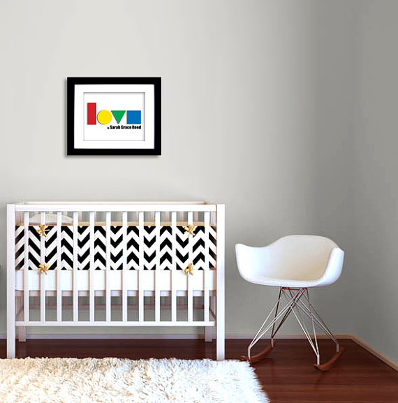 Personalized nursery art by the memory gallery modern for Modern nursery decor