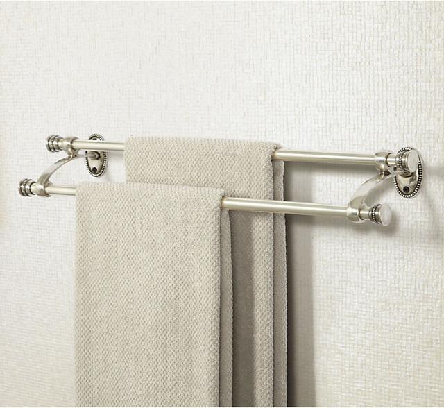 Beaded Bath Double Towel Bar traditional-towel-bars-and-hooks