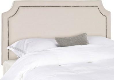 Clip Corner Nailbutton Headboard, Taupe contemporary-headboards