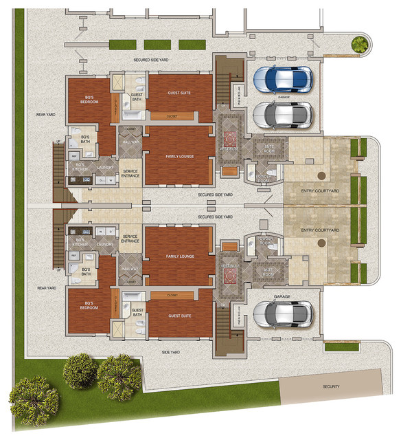Townhomes contemporary-floor-plan