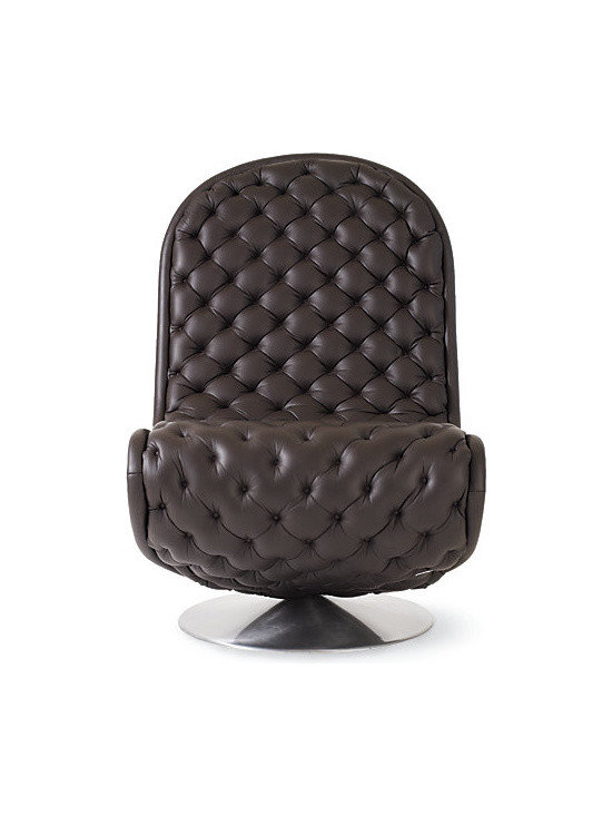 System 1-2-3 Lounge Chair in Deluxe Leather - I can't ever seem to get this quilted little number out of my head. The upholstery is so yummy.