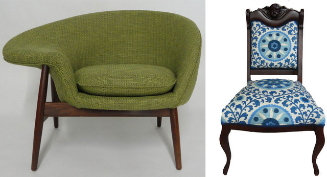 Vintage Chairs Rebuilt And Upholstered Armchairs And Accent Chairs New York By The Work