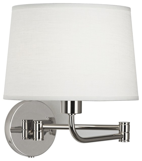 Contemporary Robert Abbey Koleman Polished Nickel Plug-In Swing Arm Lamp contemporary-wall-sconces