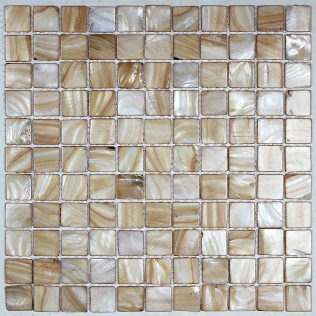 Painted shell tile light brown mother of pearl tile for kitchen backsplash modern