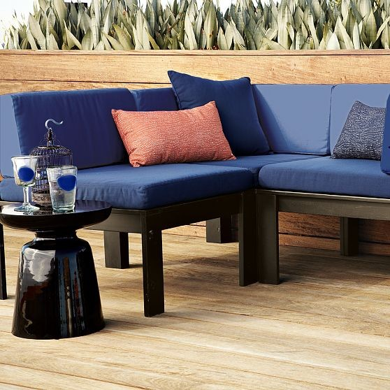 Wood Slat Sectional Outdoor Cushions Modern Outdoor Lounge Chairs by We