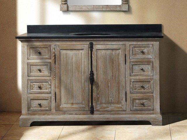 Perfect 60 Inch Single Sink Bathroom Vanity In Driftwood Finish