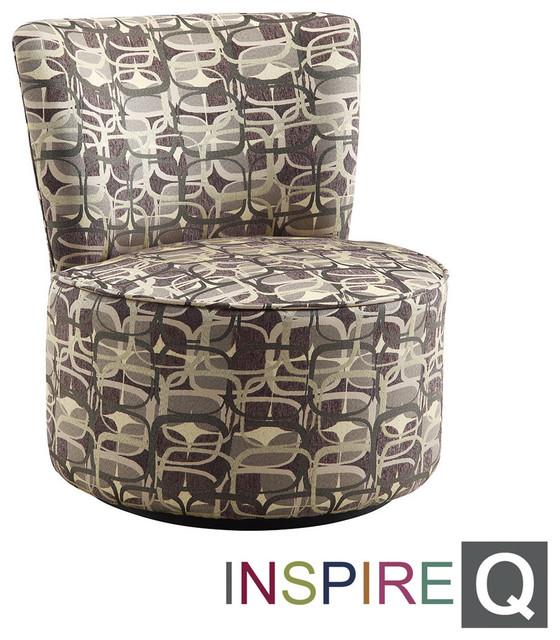 Inspire Q Damen Mod Geometric Round Swivel Chair