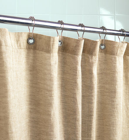 Oil Rubbed Bronze Curtain Rods Grey Linen Shower Curtain