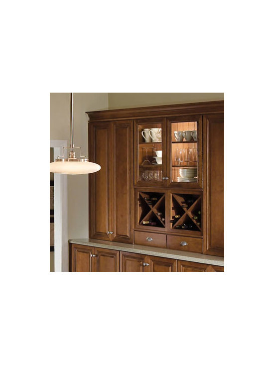 Hutch Area - A Hutch Area gives you a place of pride to display Grandma's china pattern or your wedding stemware. It also lets you keep wine close at hand while entertaining.