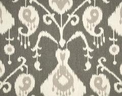Magnolia Home Fashions Java Ikat Fabric, Pewter traditional-fabric