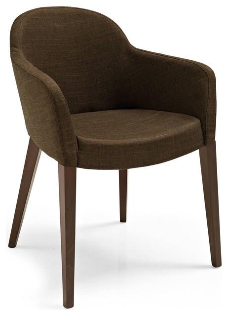 Gossip Upholstered Arm Chair New Delhi Coffe